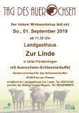 Eintrittskarte Tag des Auerochsen 2019